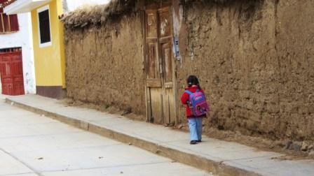 El camino de la escuela Santiago
